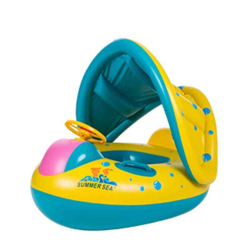 Infant Swimming Ring Inflatable, Shaded Pool- Swim Safely Seat