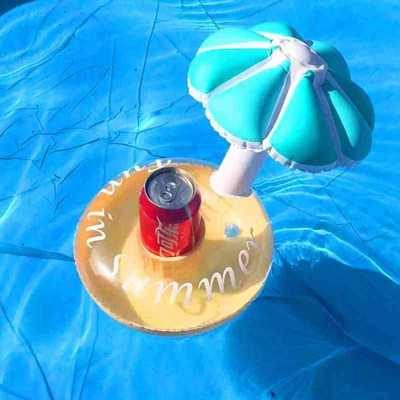 Mushroom Shape Drink Holder Float Toy- Swimming Pool Inflatable Rafts