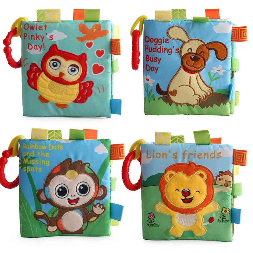 3d Animal Bb Sound Cloth Not Book Toy - Intelligence Educational