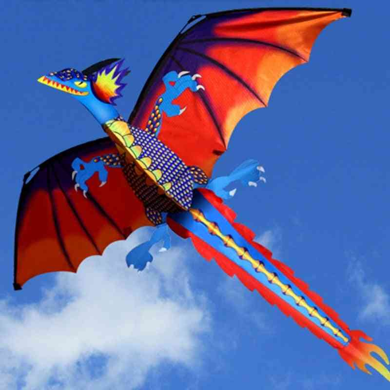 3d Dragon Kite With 100m Line And Tail For Adult- Outdoor Flying