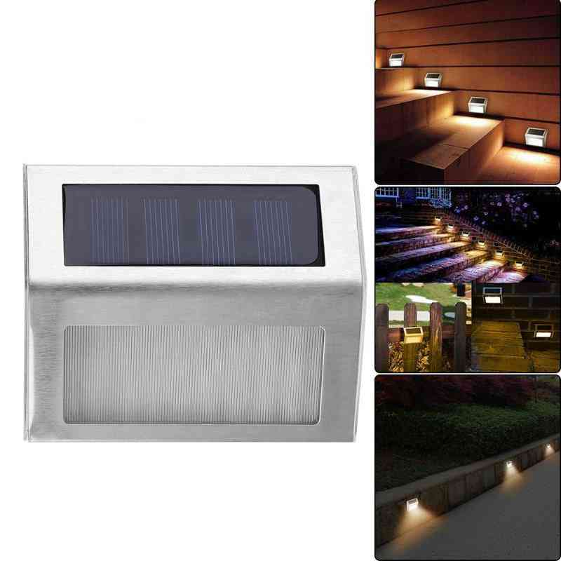 Stainless Steel And Rain Proof Solar Light Lamps For Outdoor Gardn, Stairs Paths And Deck Patio