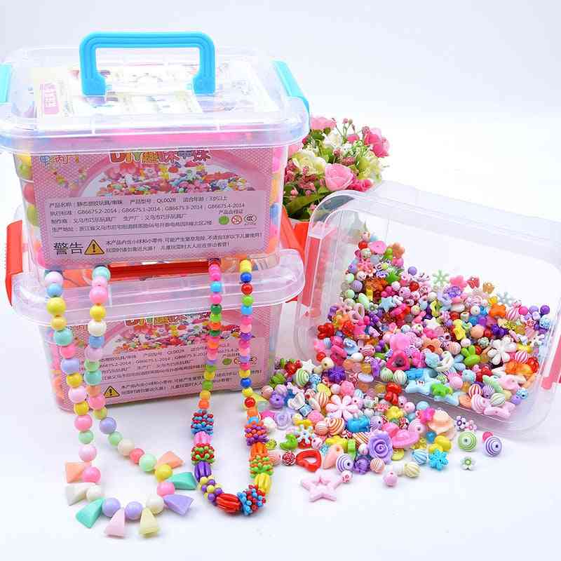 Diy Beaded Toy With Storage Box For Making Kids Jewelry