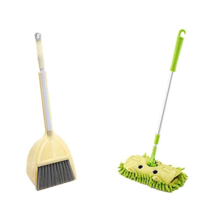 Cute Cartoon Pattern Mini Mop,  Broom And Dustpan Set-cleaning Tool