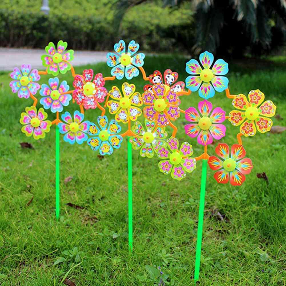 Flower Shape Wind Spinner For Home Garden Yard Decor