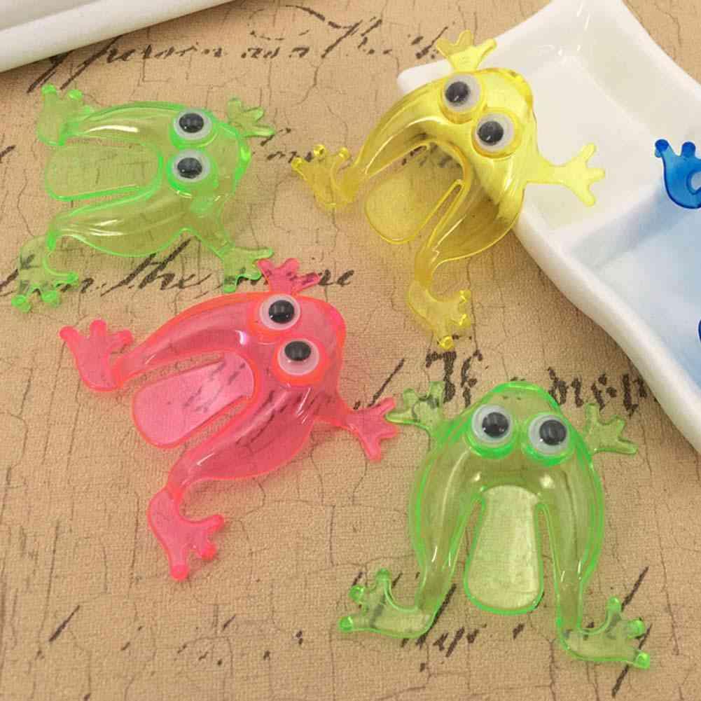 10pcs Mini Jumping Frog Toy - Finger Pressing Game