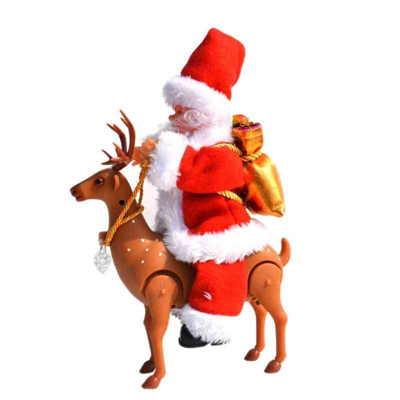 Cute Santa Claus With Elk - Voice Christmas Festival Style Toy
