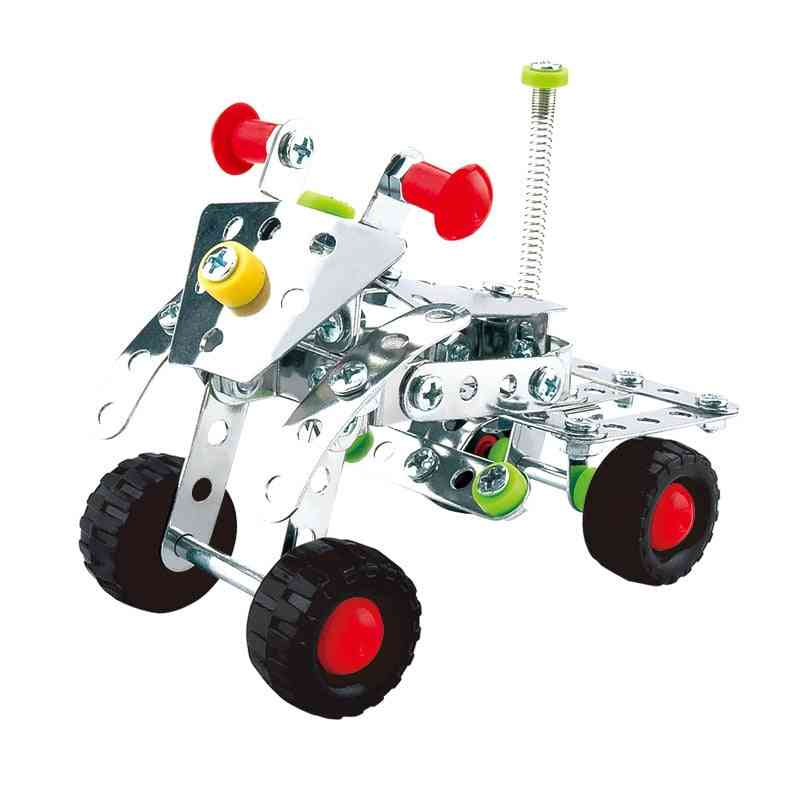 Children's Metal Motorcycle Building Blocks Set Assembling Metal Blocks Parts Toy