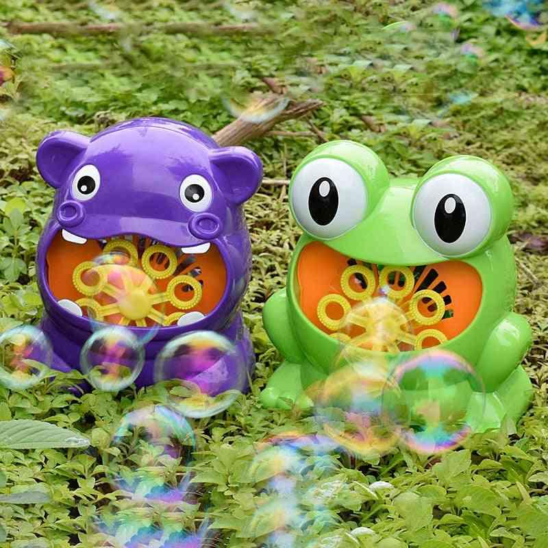 Bubble Gun Cute Frog Automatic Bubble Machine Toy