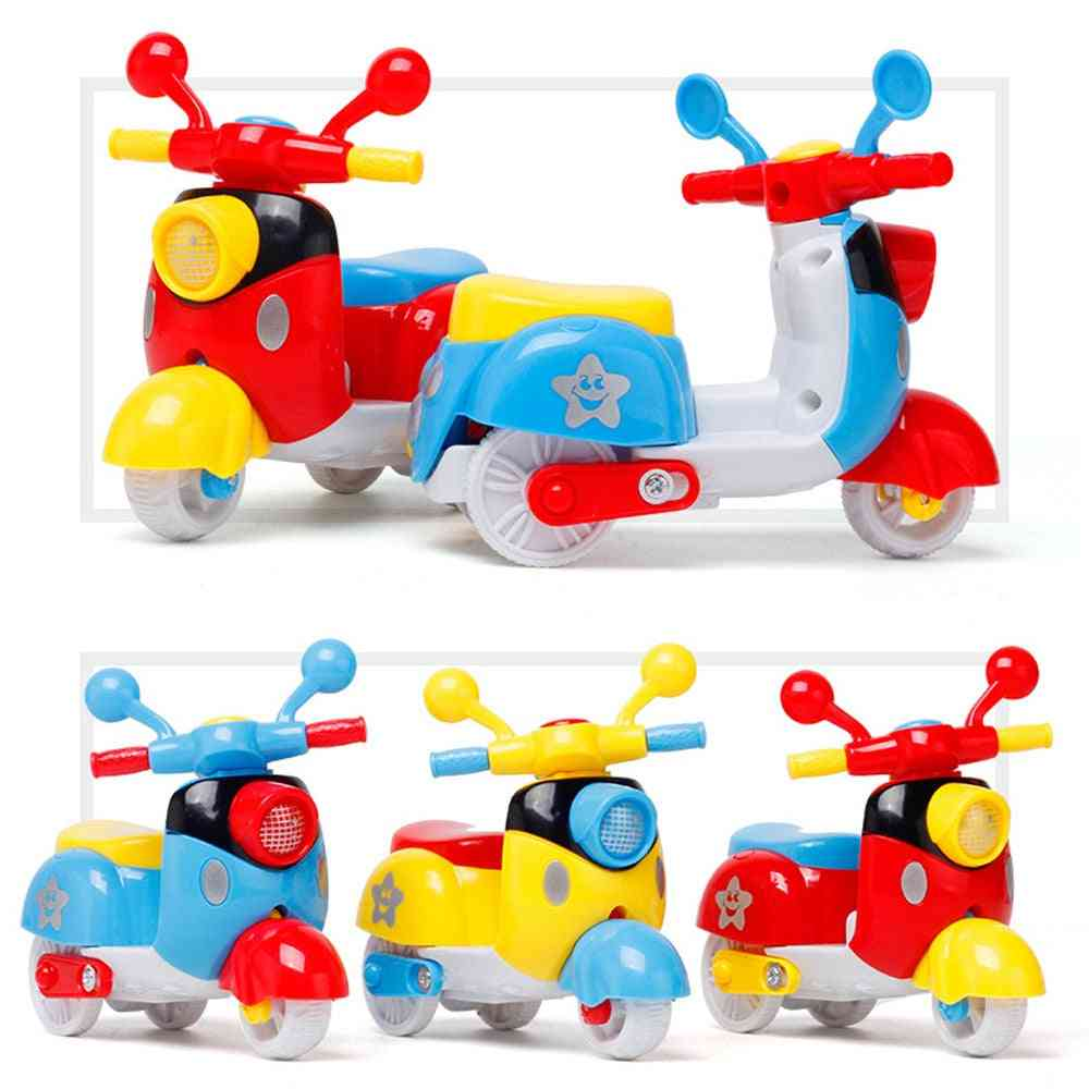 Pull Back Diecast Mini Motorcycle Early Model Educational For