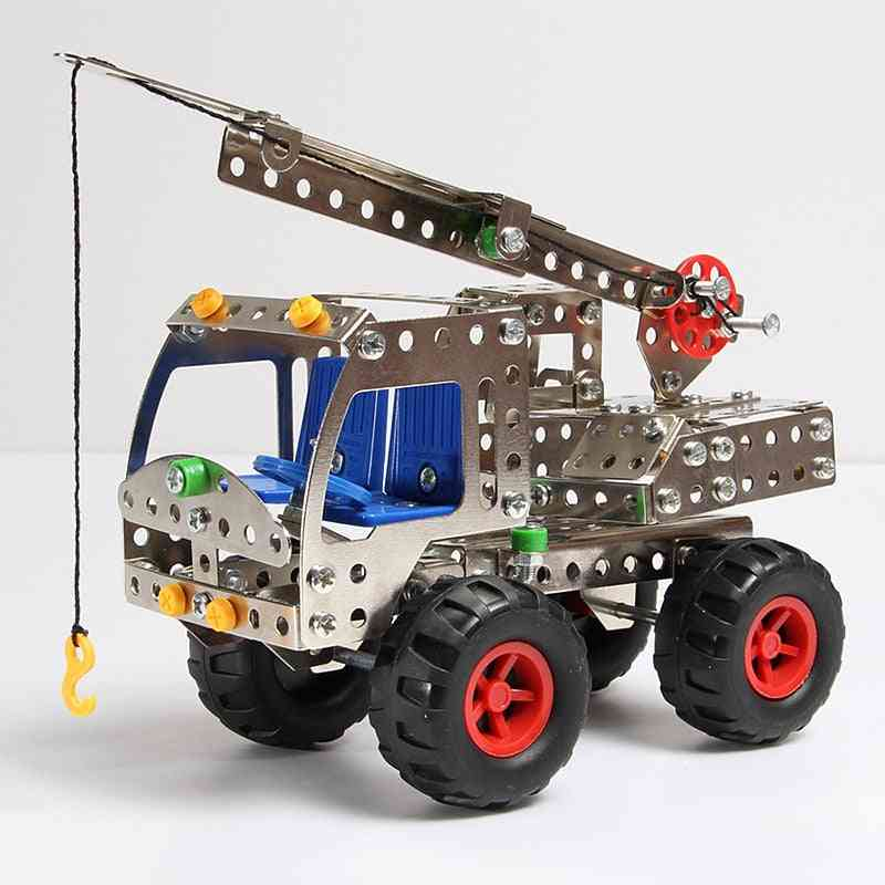 Diy Metal Engineering Car Series Assembling Building Blocks - Educational Science