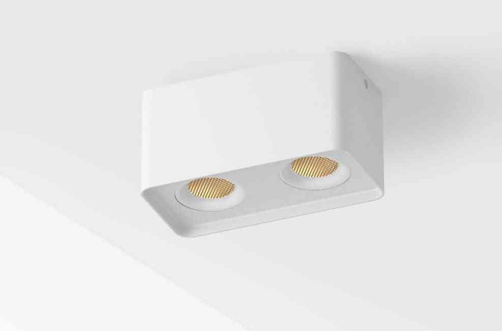 Arc Surface Mounted Led Spotlight - Ac 220v To 240v Adjustable Square Ceiling Spot Lamp