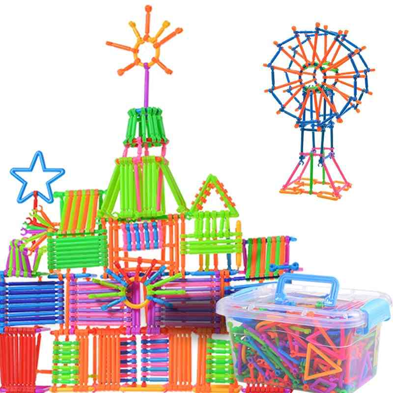 Children Plastic Spelling Assembling Puzzle, Smart Building Blocks Sticks Stitching Toy