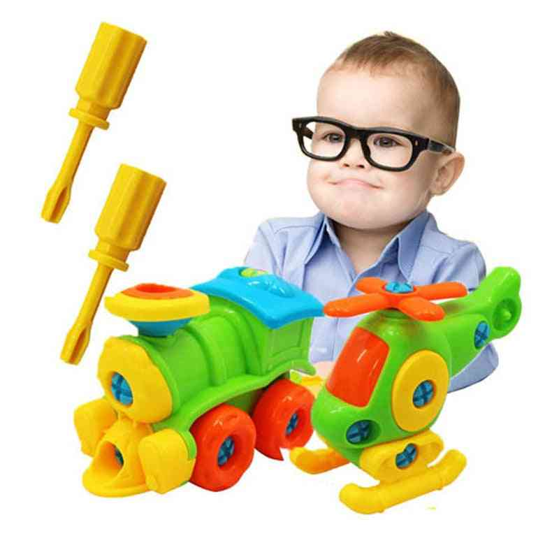 Puzzle Blocks Plastic Insert Train, Helicopter Shape Toy