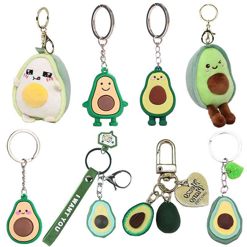 Cute Creative Avocado Design, Stuffed And Plush Toy Keychain