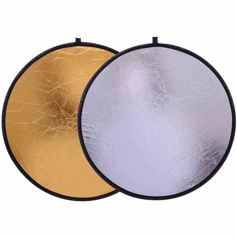 Handhold, Collapsible And Portable Disc Light Reflector For Photography