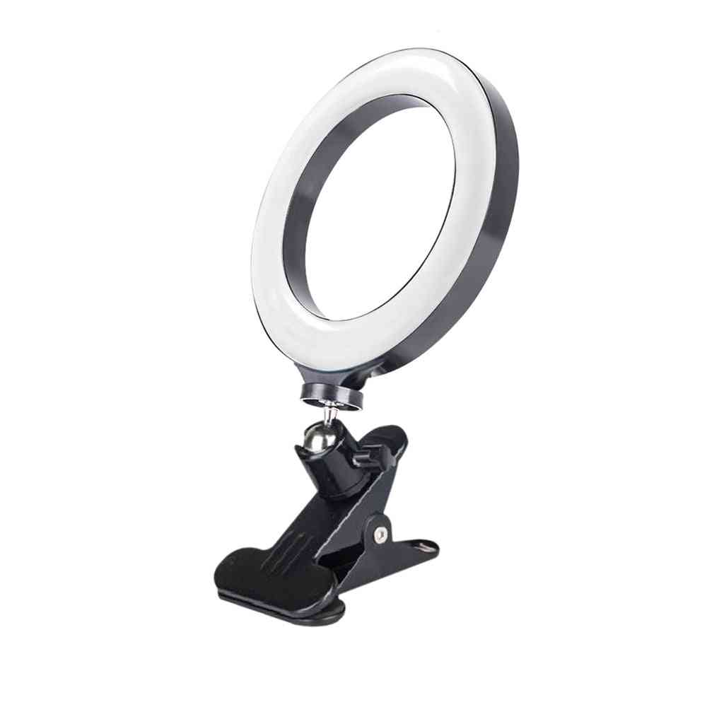 20cm Ring Fill Light For Mobile Phone, Computer, Live Broadcast Video