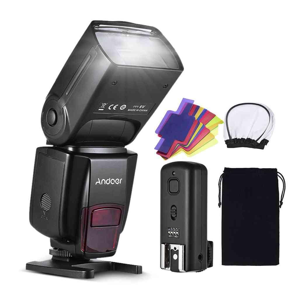 Pro On-camera Speedlite Flash Light - Color Filters Diffuser For Dslr Camera