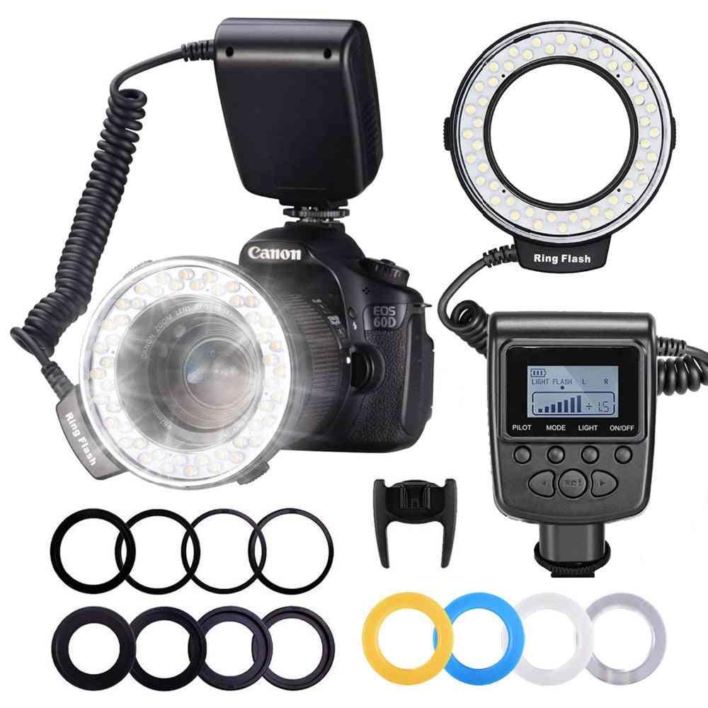 Macro Led Flashlight Speedlight For Dslr Camera Photo Ring Light Kit