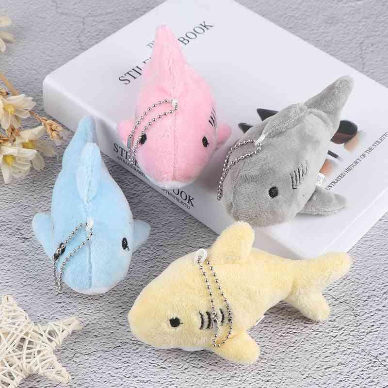 12cm Cute, Soft And Stuffed, Shark Design-key Chain Pendant