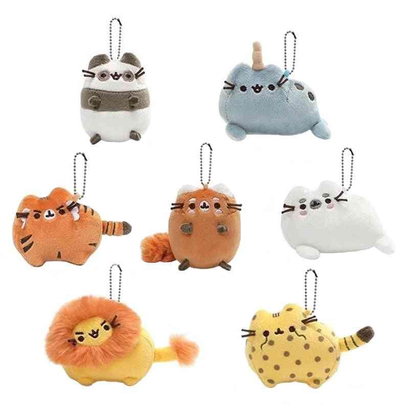 Cute Cartoon Animal Cat Plush Toy - Keychain Backpack