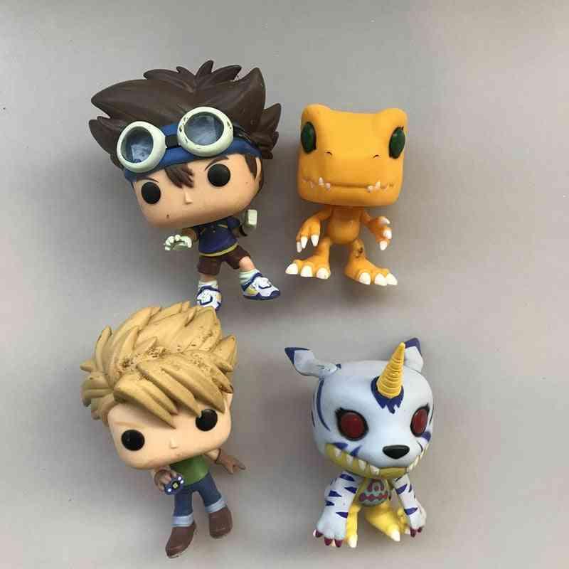 Original Funko Pop Secondhand Amine: Digimon Tai Kamiya, Matt Ishida, Gabumon Vinyl Action Figure Collectible Model Loose Toy