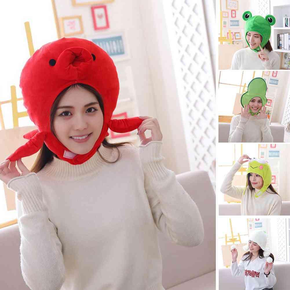 Cartoon Animal Design, Fluffy And Soft Head Wear, Cosplay Props Hat