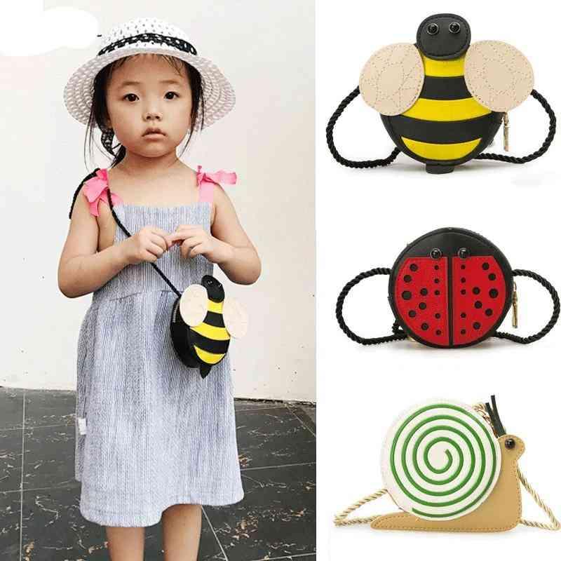 Pu Leather, Bee/,ladybug/snail Design, Cross-body Messanger Bag
