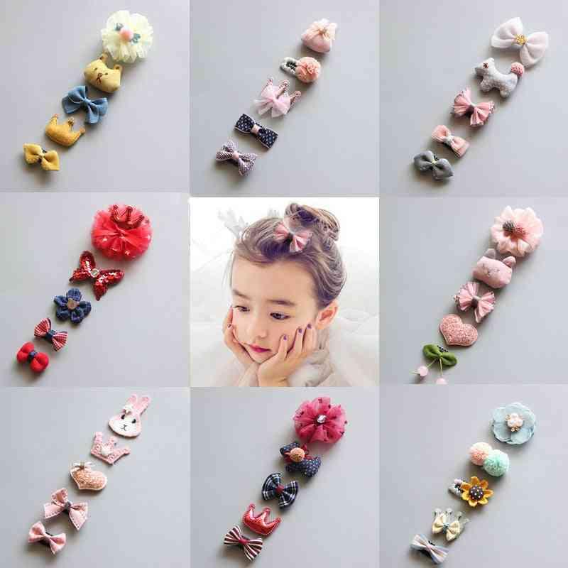 5pcs/set- Cute Hair Clips