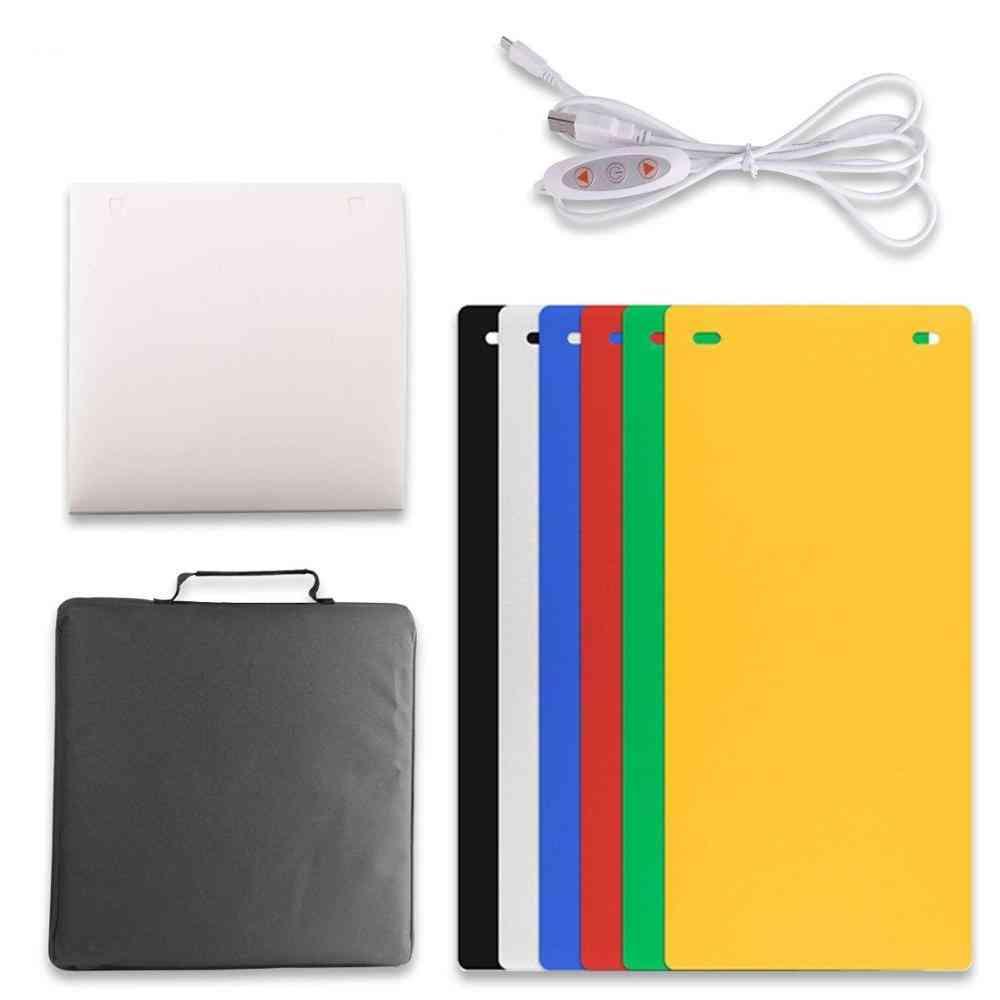 2 Led Folding-lightbox  Portable, Photography Photo-studio Softbox