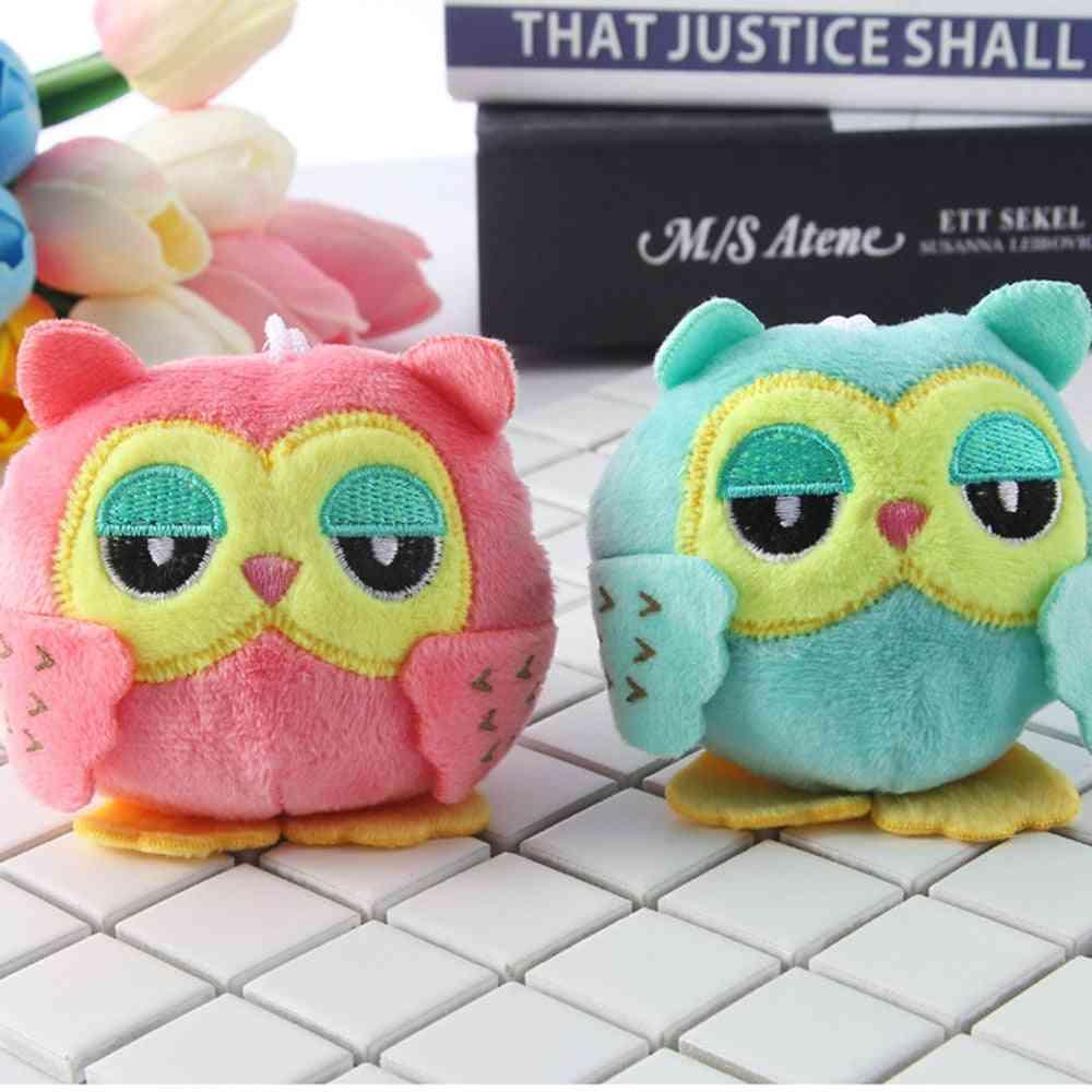 9cm Cute Owl Shape, Stuffed Key Chain-pendant