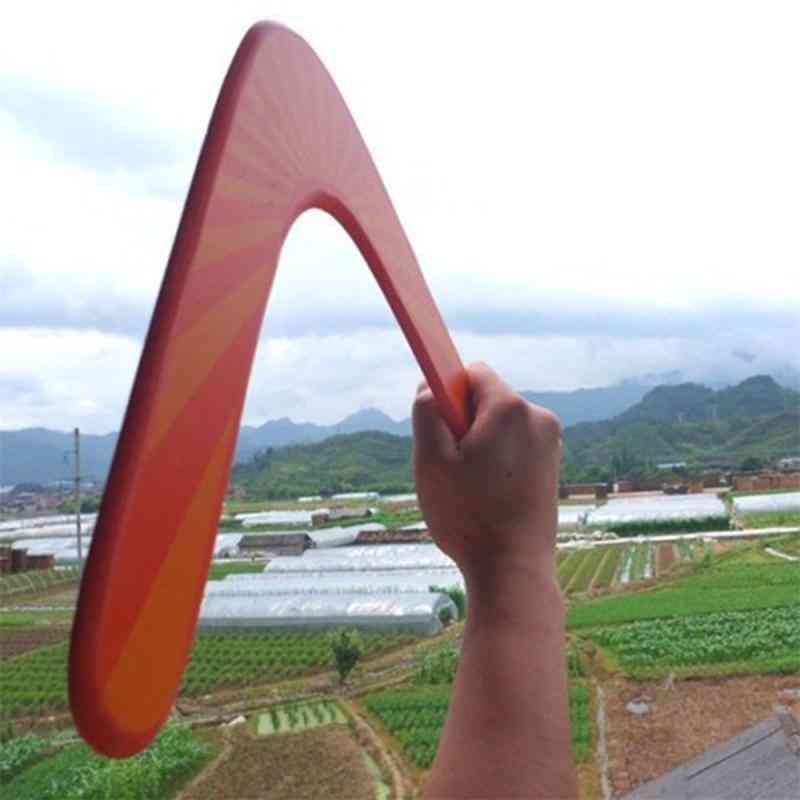 Wooden Boomerang Toy-throwback V Shaped Flying Disc