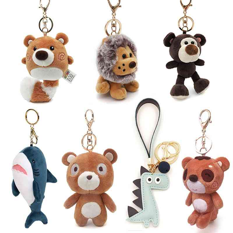 Cute Cartoon Animal Design-plush And Soft Stuffed Key Chain Toy