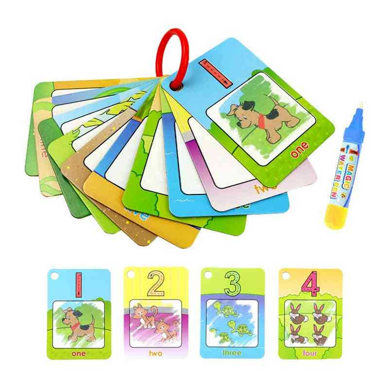 Magic Water Drawing Cards,  Coloring Book With Water Pen