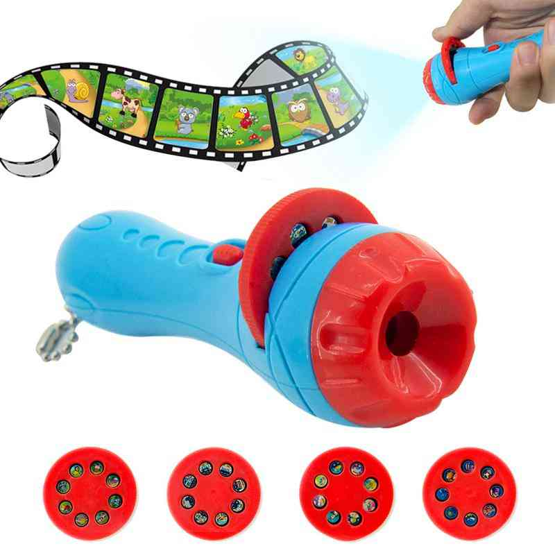 Flashlight Projector With Slides For Bed Time Story- Early Educational Toy For