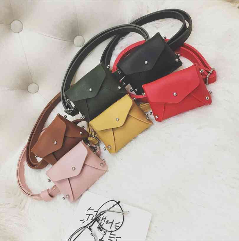 Children's Mini Square Rivet Fashion Pouch, Shoulder Messenger Bag