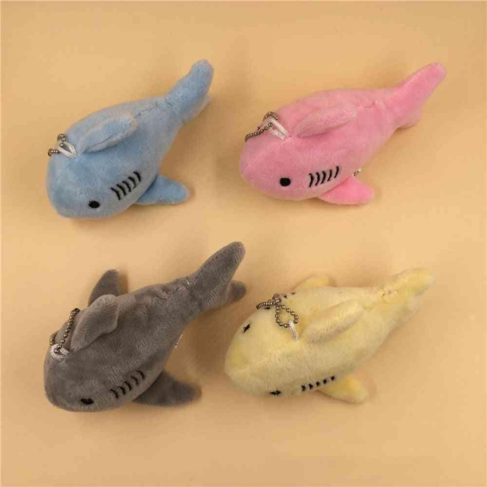 Plush Shark Stuffed Toy Doll , Mini Small Ocean Animal Key Chain