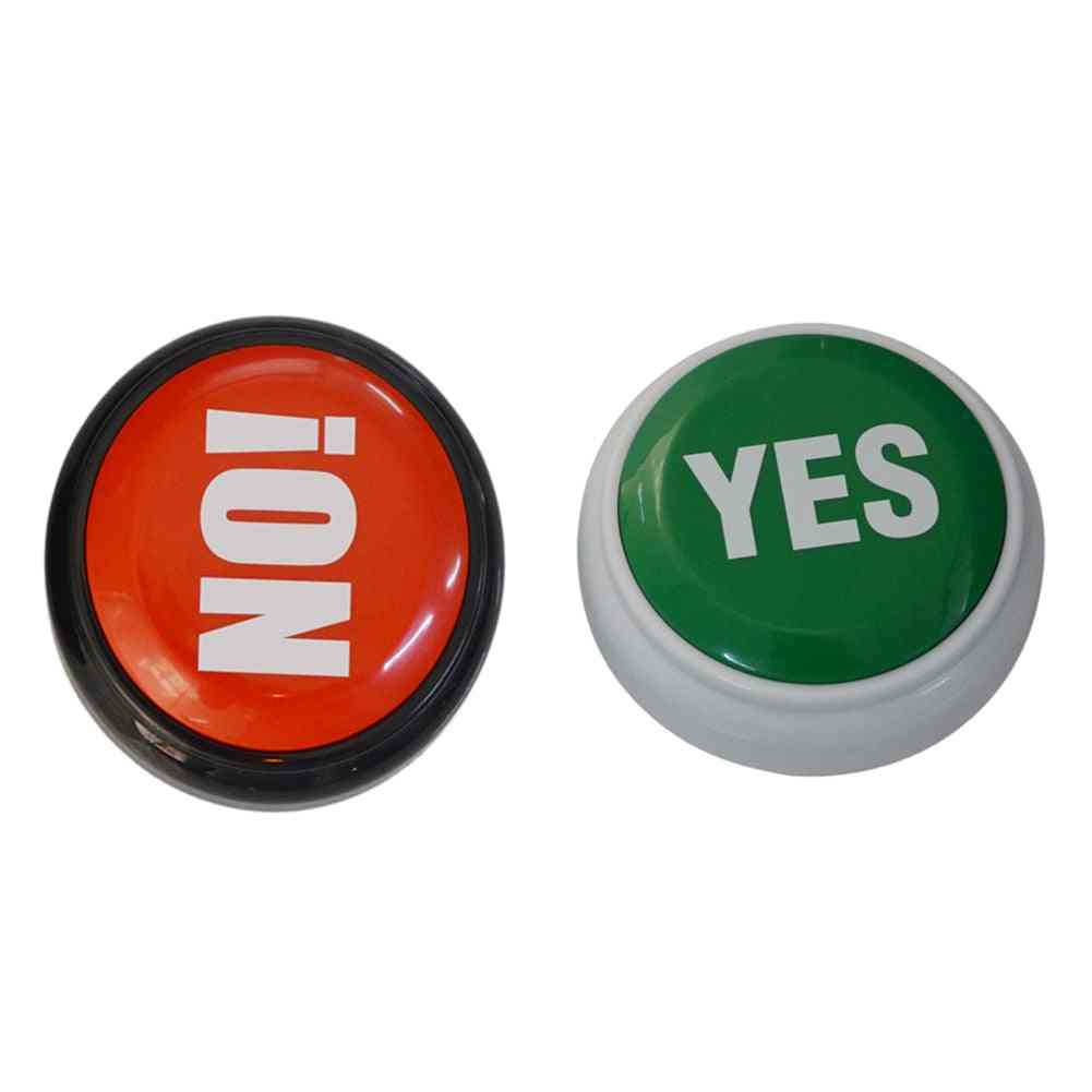 Electronic Talking Yes / No Sound Button - Home, Office, Party Gag Toy