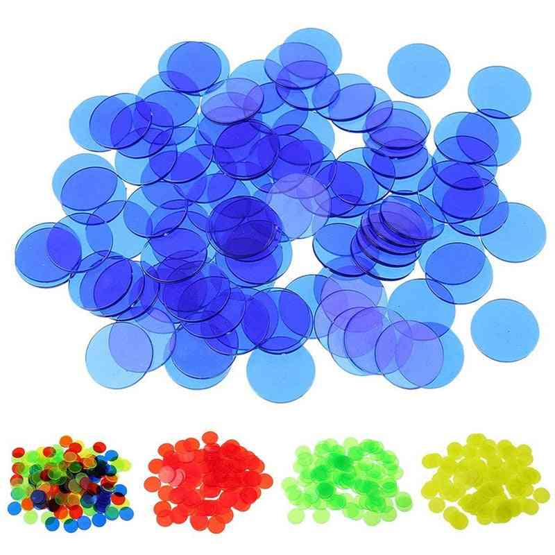 100 Pieces/bag Transparent Plastic Coin - Educational Match Early Learning Kids