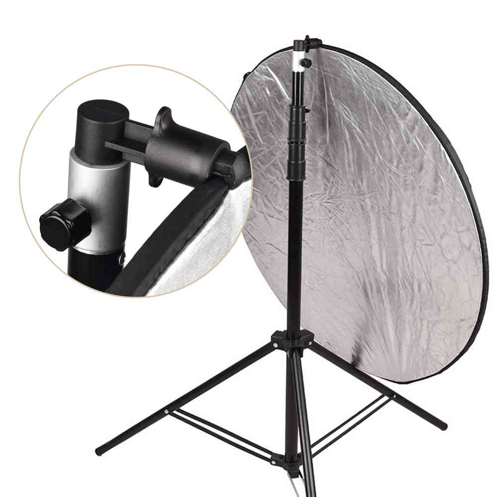 Aluminum Portable Photo Video Studio Photography Background Reflector Softbox Disc Holder Clip For Light Stand