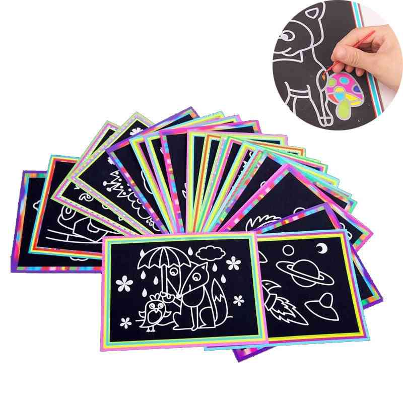 Scratch Art Magic Painting Paper With Drawing Stick