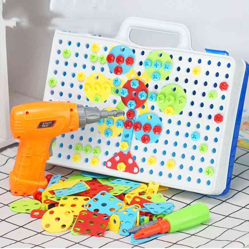 Nuts & Bolts Models Kit - Screw Unscrew, Construction Brick Shape Matching Game Toy