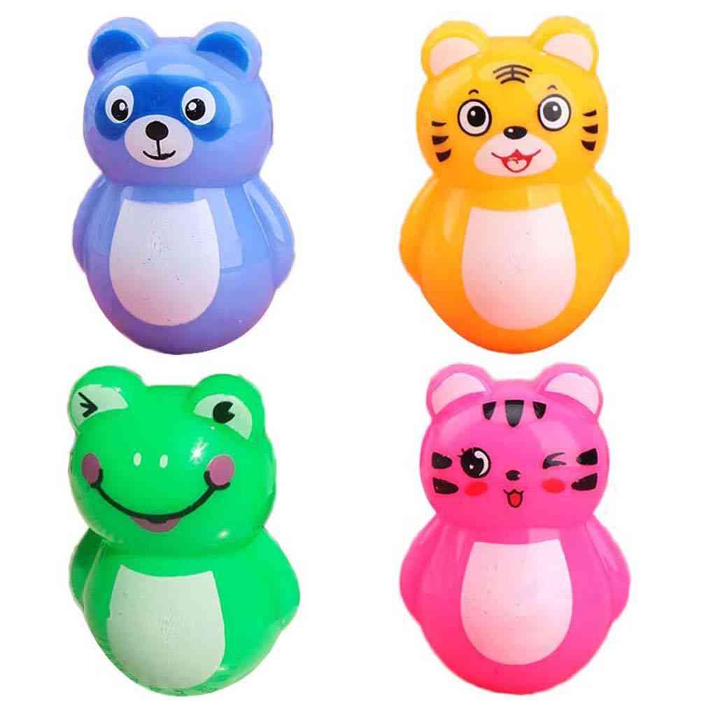 Adorable Roly-poly, Plastic, Cartoon Animal Design-tumbler Rattles