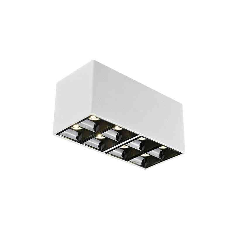 18w Small Down Light - Surface Mounted, Ceiling Square Bold, Thin Double Holehead Spotlight