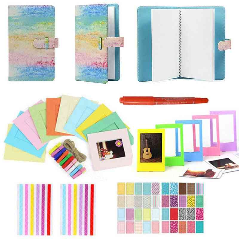 6 In 1 Colorful Bundle Kit-accessory-set For Instax Mini 9 8 8+ 7s 70 90 25 Camera Assorted Accessory Pack Of Album Frames Etc