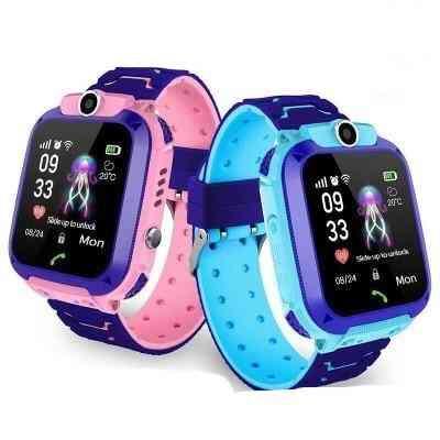 Waterproof Kids Q12 Smart Watch, Sos Anti-lost Baby Clock