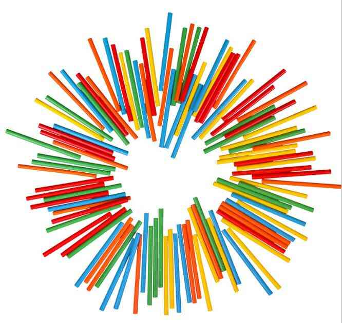 Colorful Bamboo, Counting Sticks For Mathematics Teaching Aid