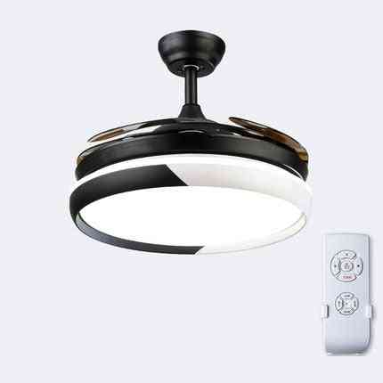 Fan Light Ceiling, Reversible - Smart Living Room Lamp With Remote Control
