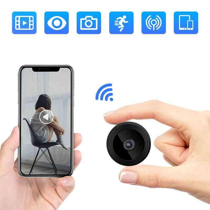 Wifi, Full Hd Wireless Mini Ip Camera With Night Vision, Motion Detection & Alarm Push