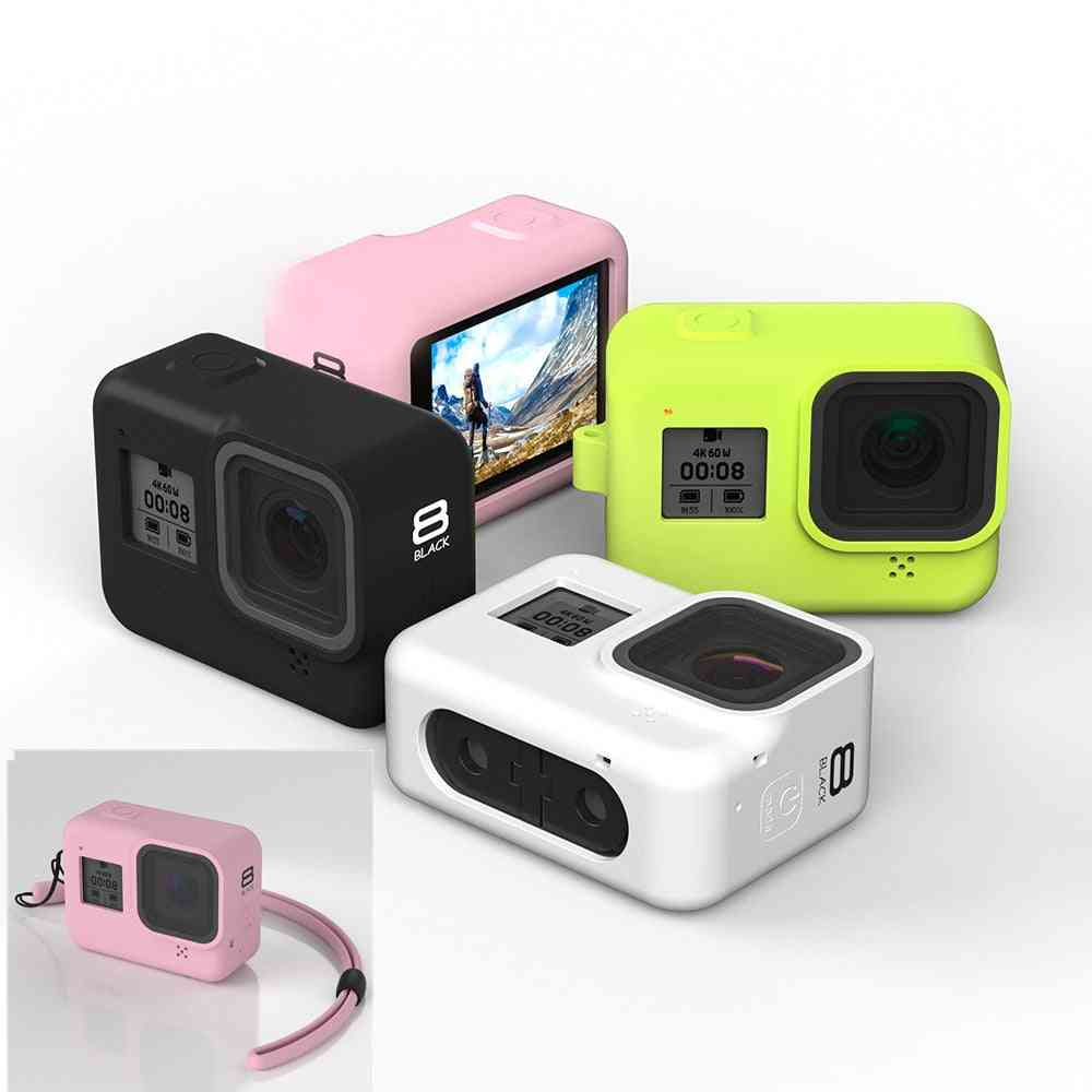 New Soft Silicone Body Case For Gopro Hero 8 Case Silicone Protective Full Cover Shell For Gopro Hero 8 Action Camera Accessorie