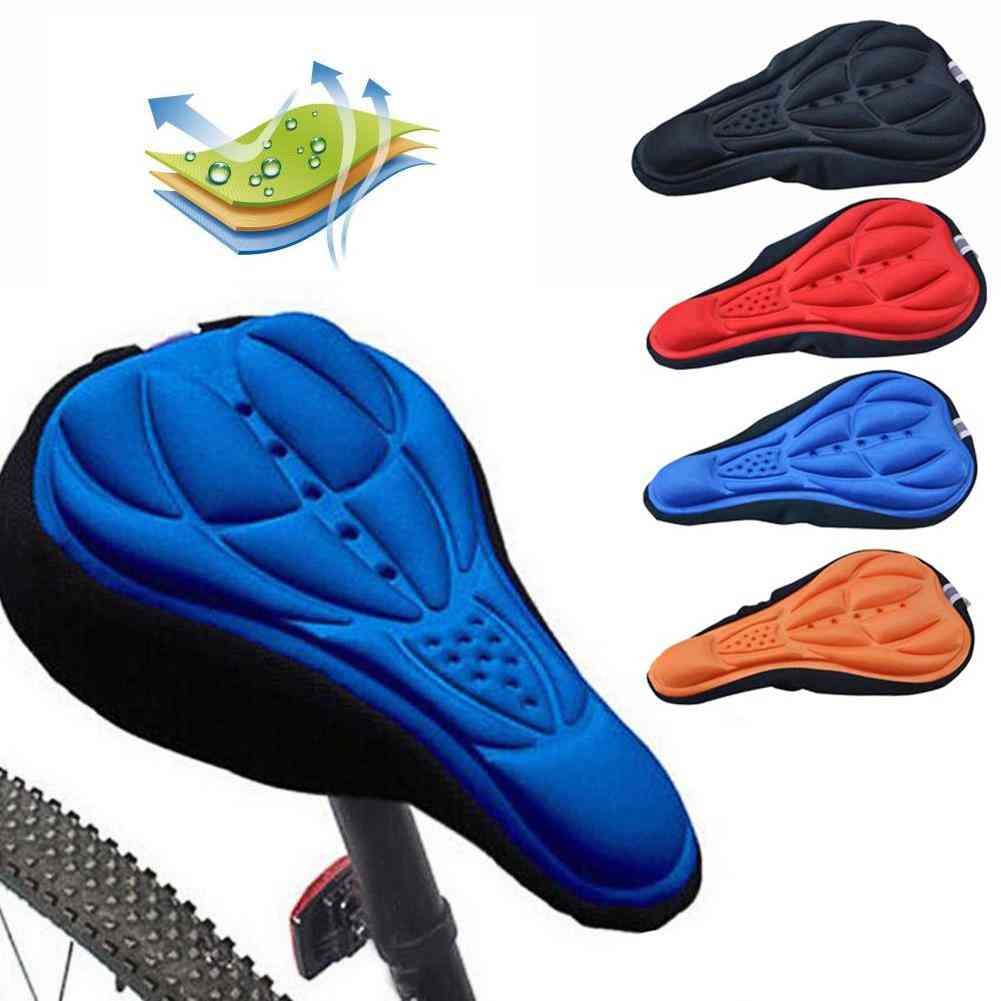 Extra Comfort And Ultra Soft Silicone- 3d Gel Cushion Cover For Bicycle Saddle Seat